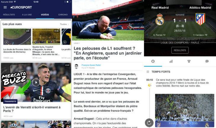 Eurosport : nouveautés iOS 10 et playlists vidéos sur iPhone & iPad