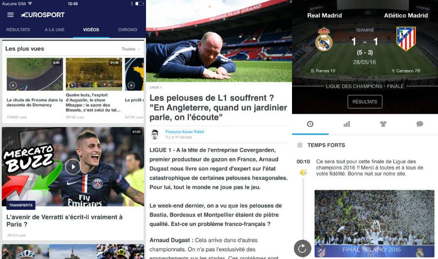 eurosport app iphone - Eurosport : nouveautés iOS 10 et playlists vidéos sur iPhone & iPad