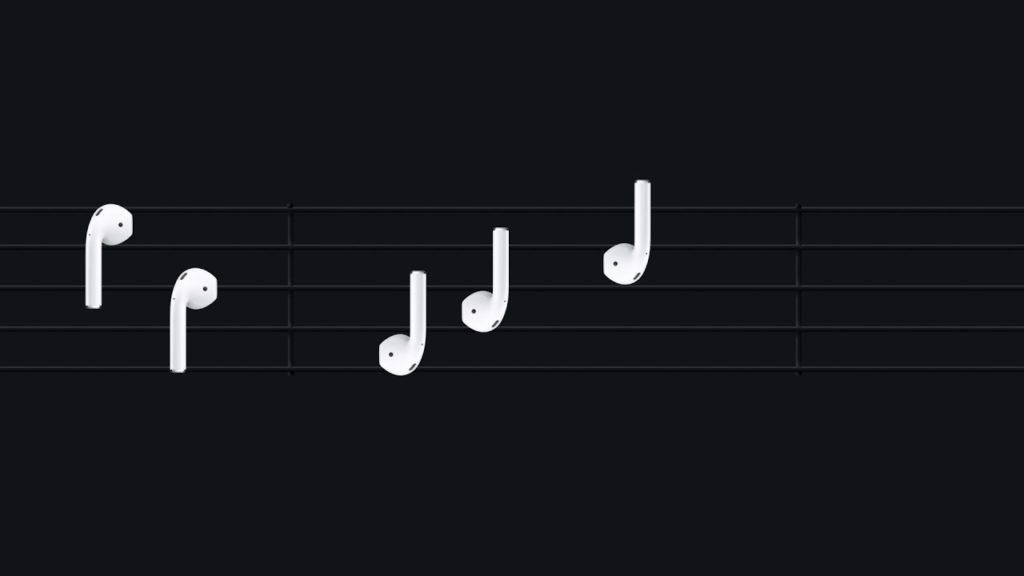 Airpods apple notes 1024x576 - Apple publie ses 4 premières publicités pour les Airpods