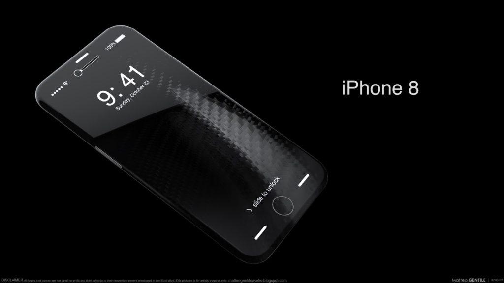Matteo Gentile iphone 8 concept 1024x576 - iPhone 8 : un châssis en acier inoxydable comme sur l'iPhone 4 ?