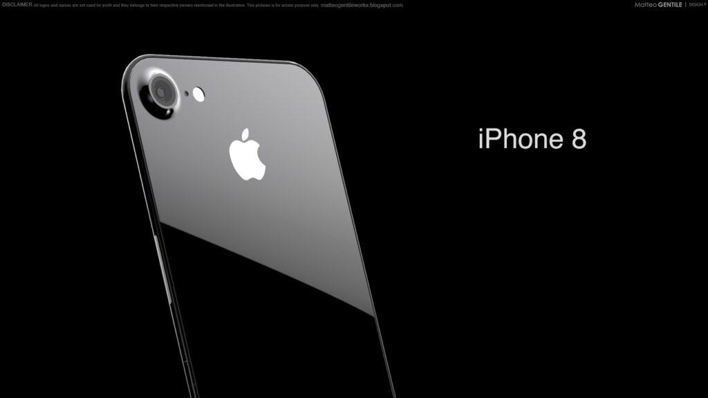Matteo Gentile iphone 8 concept 2 1024x576 - L'iPhone 8 aussi résistant à l'eau que le Galaxy S8 (IP68) ?