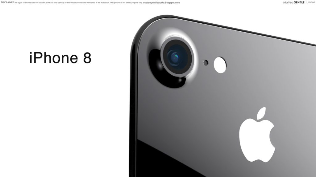 Matteo Gentile iphone 8 concept 3 1024x576 - iPhone 8 : doté de la reconnaissance faciale ?