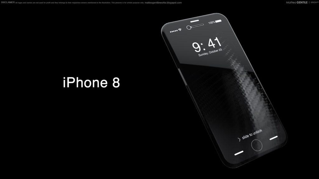 Matteo Gentile iphone 8 concept 7 1024x576 - iPhone 8 : prix supérieur à 1000 $, tout tactile & meilleure batterie ?