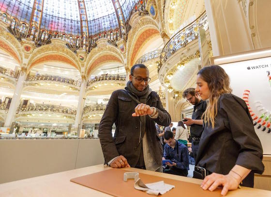 apple watch galeries lafayette - Apple Watch : la boutique aux Galeries Lafayette à Paris ferme ses portes