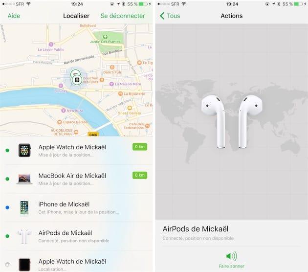 """ios 10 3 localiser mes airpods - iOS 10.3 bêta 1 disponible, avec la fonction """"Localiser mes AirPods''"""