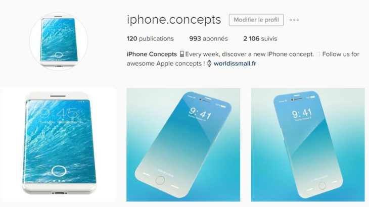 iPhone 8 : retrouvez tous les concepts sur notre compte Instagram