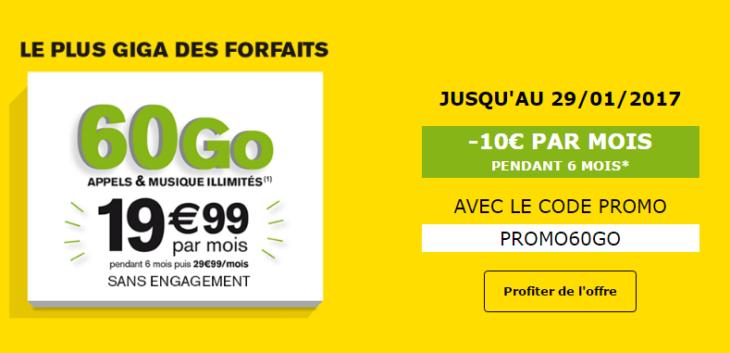 La Poste Mobile : forfait 4G 60Go à 19,99€/mois pendant 6 mois