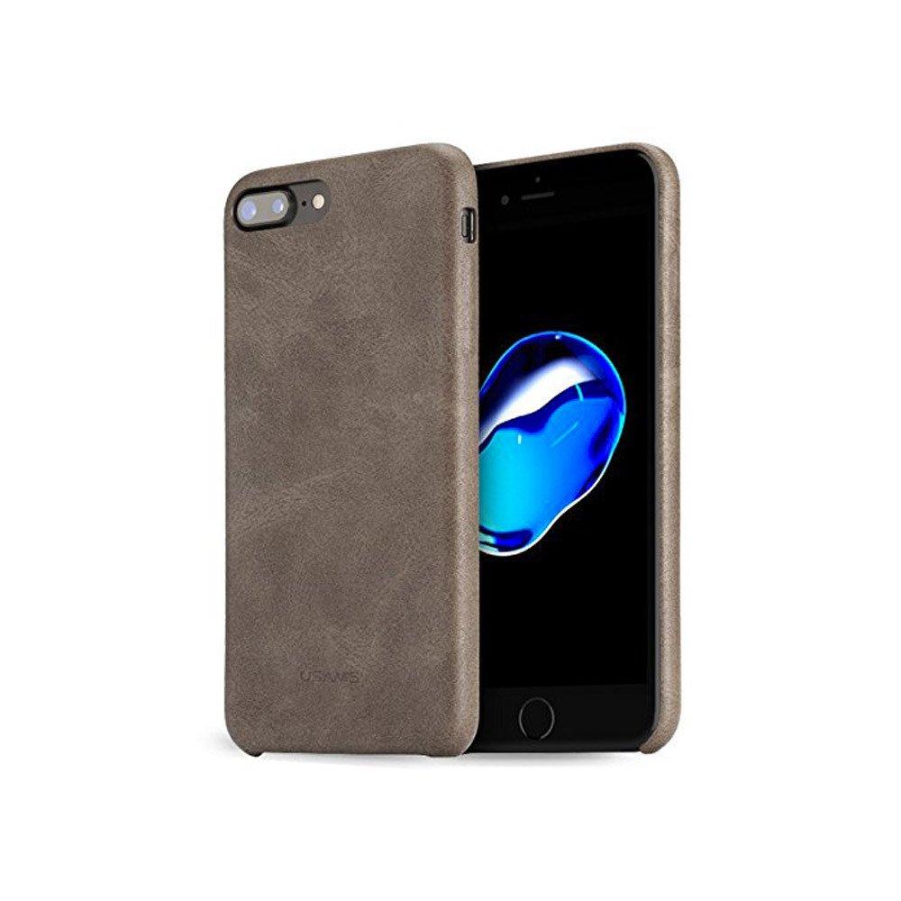 Coque cuir iPhone 7 7 Plus Marron - Boutique WIS : coques iPhone, écouteurs, enceinte & dock en soldes !