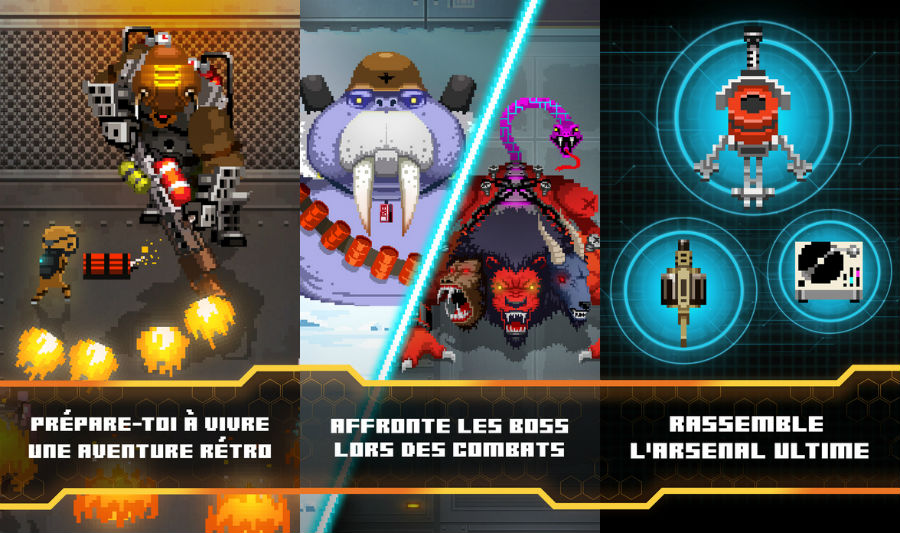 Evil Factory iphone jeu - Evil Factory : un jeu d'arcade au style rétro pour iPhone & iPad