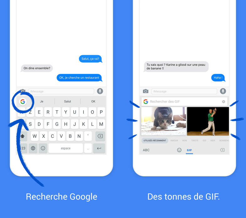 Gboard Google clavier - Clavier Gboard (Google) : nouvelles langues, Emoji iOS 10, saisie vocale