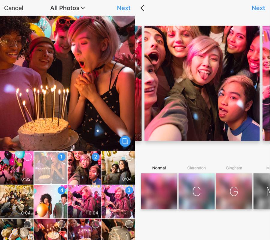 Instagram 10 photos videos - Instagram permet de partager jusqu'à 10 photos / vidéos par publication