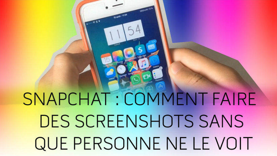 Snapchat capture ecran sans notification discrete - Tutoriel : faire une capture d'écran Snapchat sans notification