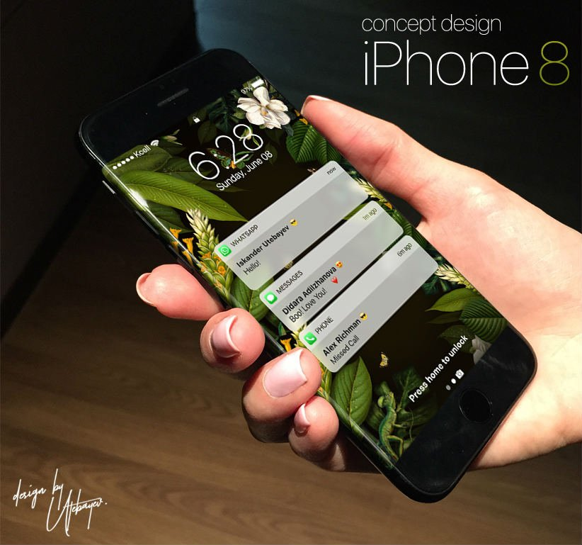 concept iphone 8 Utebayev - iPhone 8 : Apple développe son propre capteur d'empreintes digitales