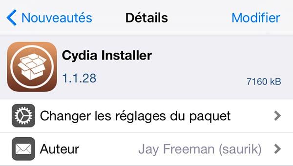 cydia 1 1 28 - Jailbreak iOS 10.2 : Cydia 1.1.28 en 64 bits, meilleur support d'iOS 10