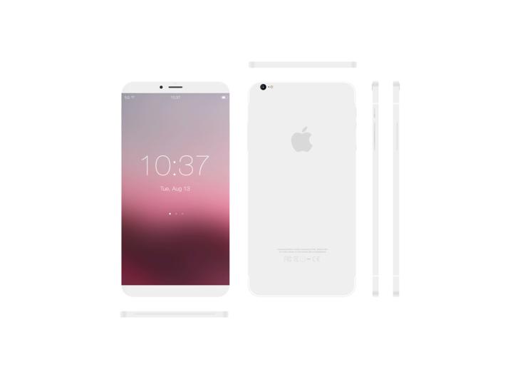 iPhone 8 : un concept sans bord et avec Scroll Bar sous iOS 11