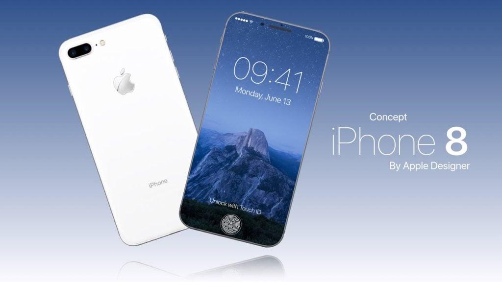 iPhone 8 : concept avec Face ID, Touch Bar, recharge sans fil & iOS 11