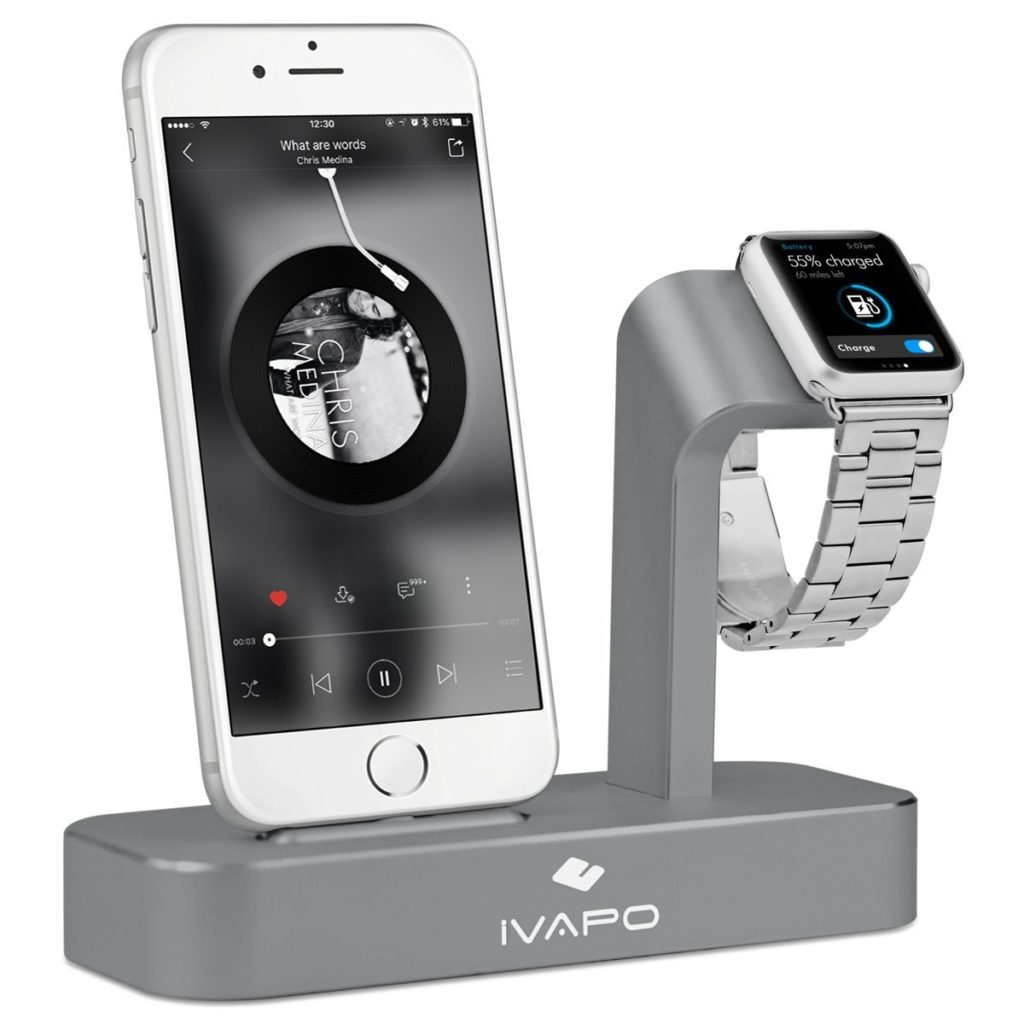 ivapo 1024x1024 - iVAPO : station de charge 2 en 1 pour iPhone & Apple Watch