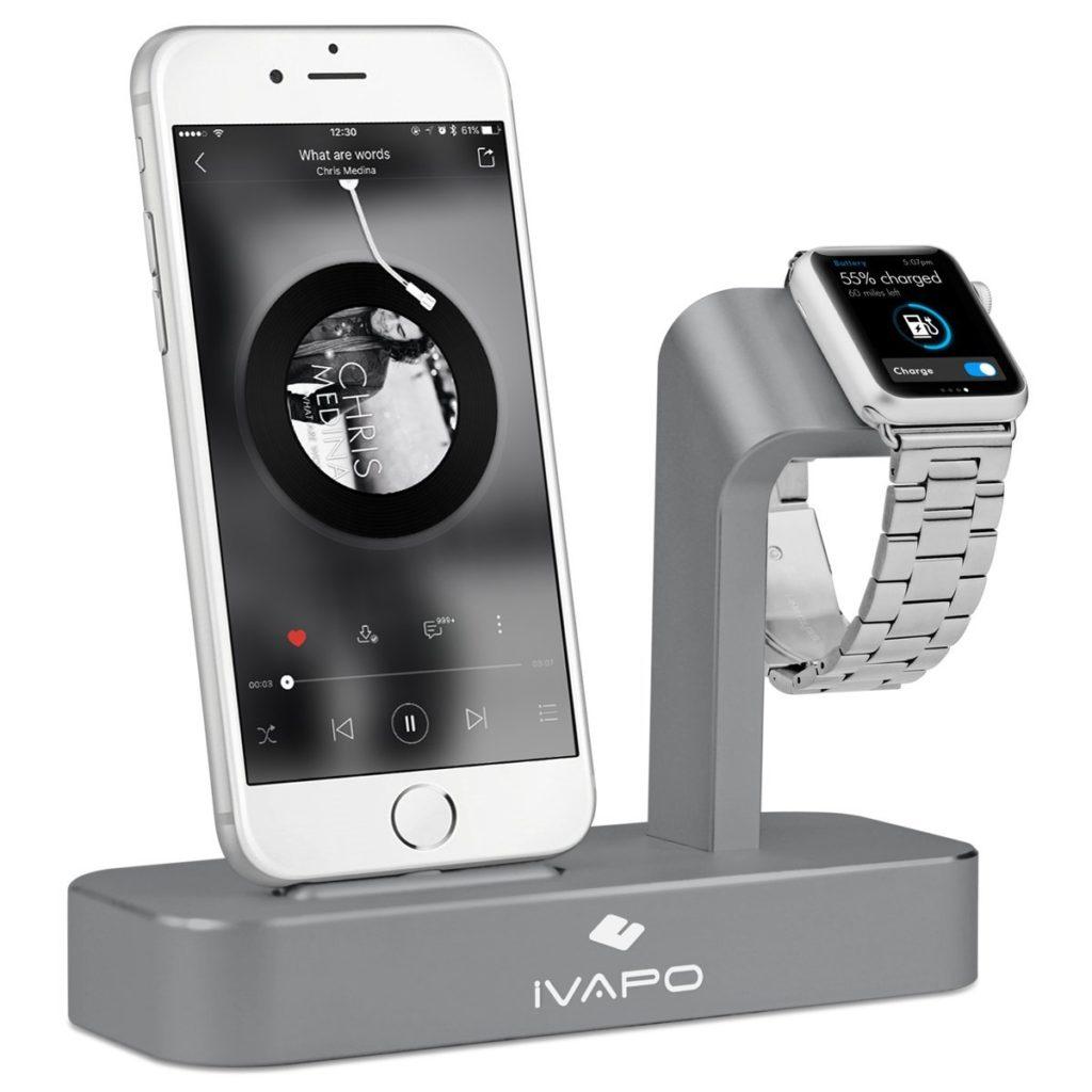 iVAPO : station de charge 2 en 1 pour iPhone & Apple Watch