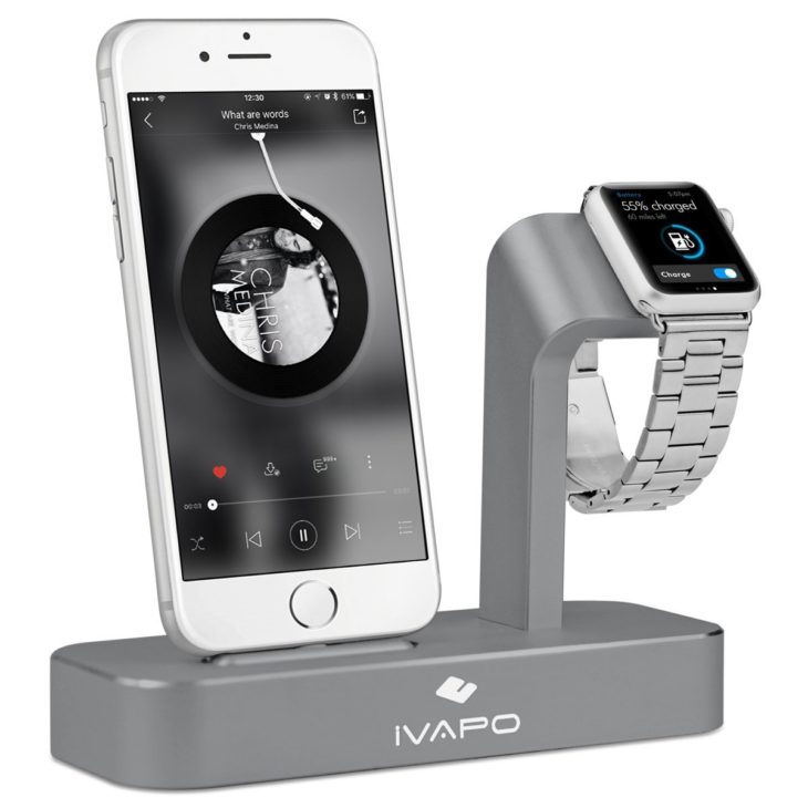 iVAPO : station de charge 2 en 1 pour iPhone & Apple Watch