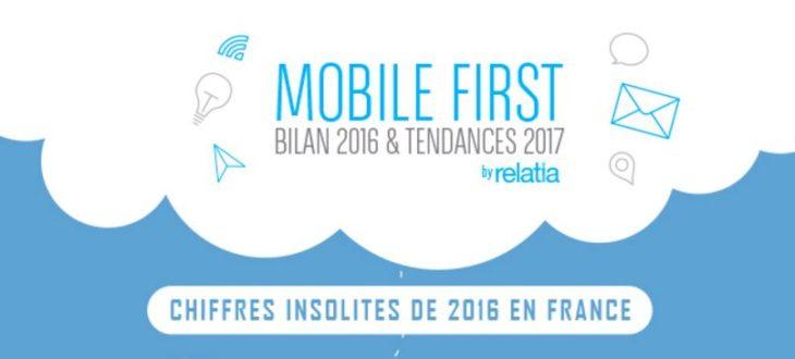Infographie : chiffres-clés du mobile en France en 2016, prévisions 2017