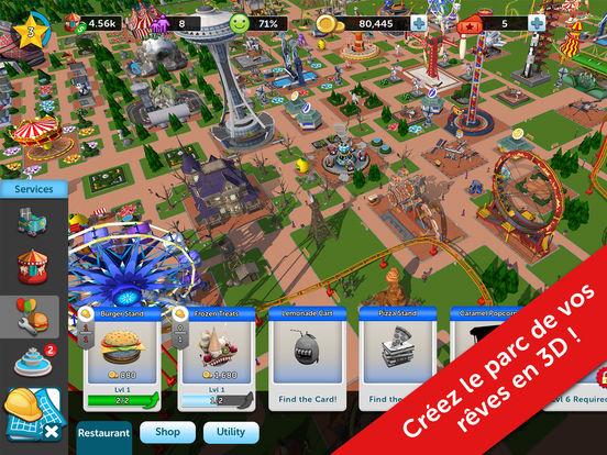 RollerCoaster Tycoon Touch : une version gratuite & simplifiée du jeu