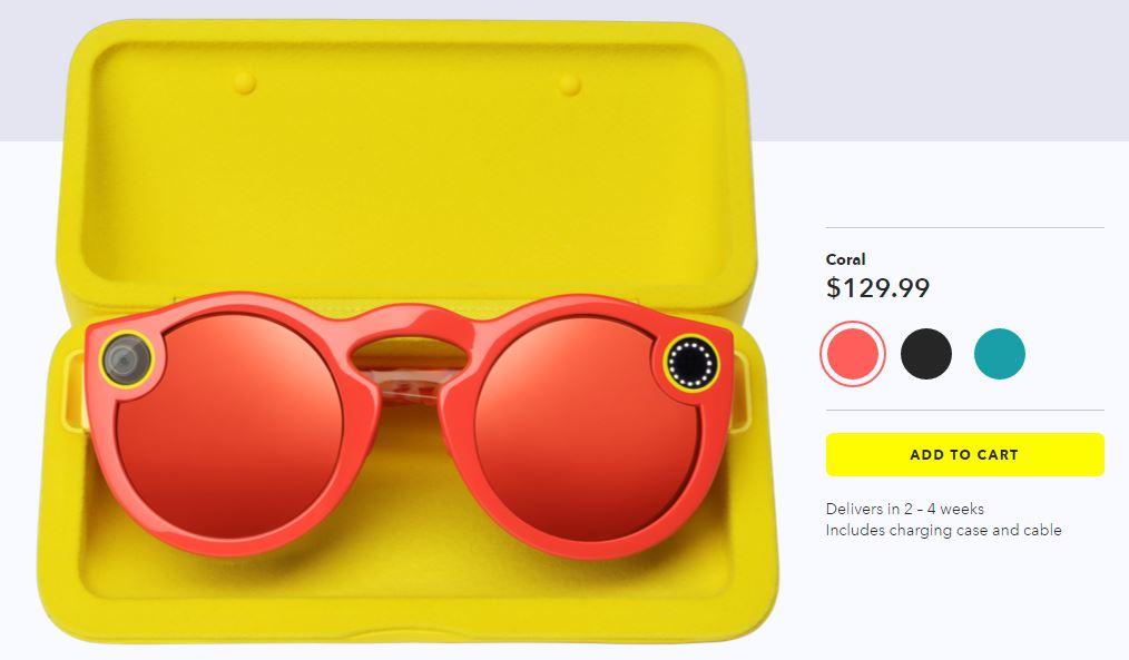 snapchat lunettes spectacles - Snapchat met en vente ses lunettes de soleil connectées Spectacles
