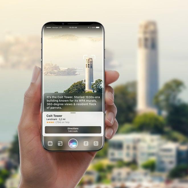 Concept iPhone 8 Siri 2 - iPhone 8 : un concept avec de la réalité augmentée basée sur Siri
