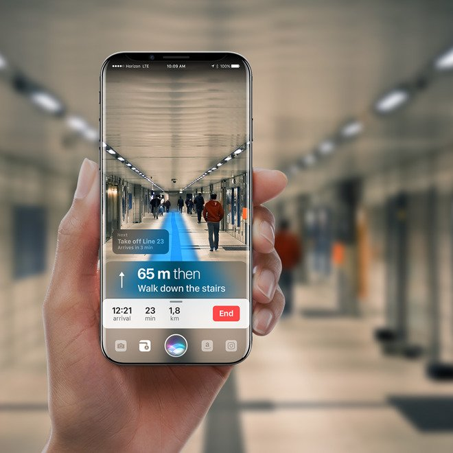 Concept iPhone 8 Siri 3 - iPhone 8 : un concept avec de la réalité augmentée basée sur Siri