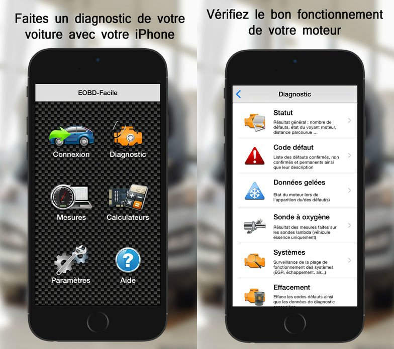 EOBD Facile : le diagnostic automobile (OBD2) sur iPhone