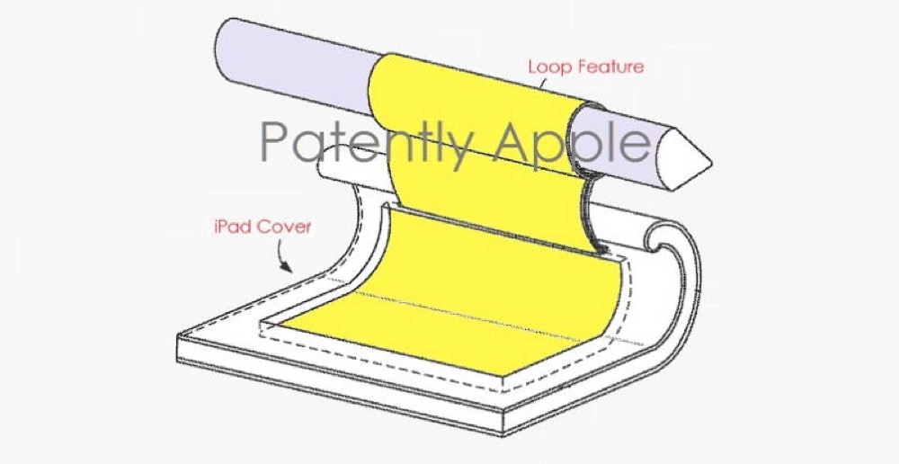 apple brevet rangement apple pencil - Brevet Apple : une place de rangement pour l'Apple Pencil sur l'iPad