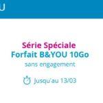 B&You : retour du forfait 4G 10Go à 4,99€/mois pendant 1 an !