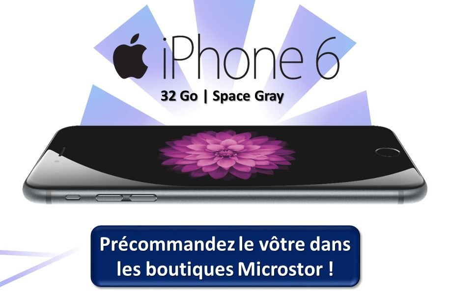 iphone 6 32 go microstor - L'iPhone 6 de 32 Go sortira aussi en France