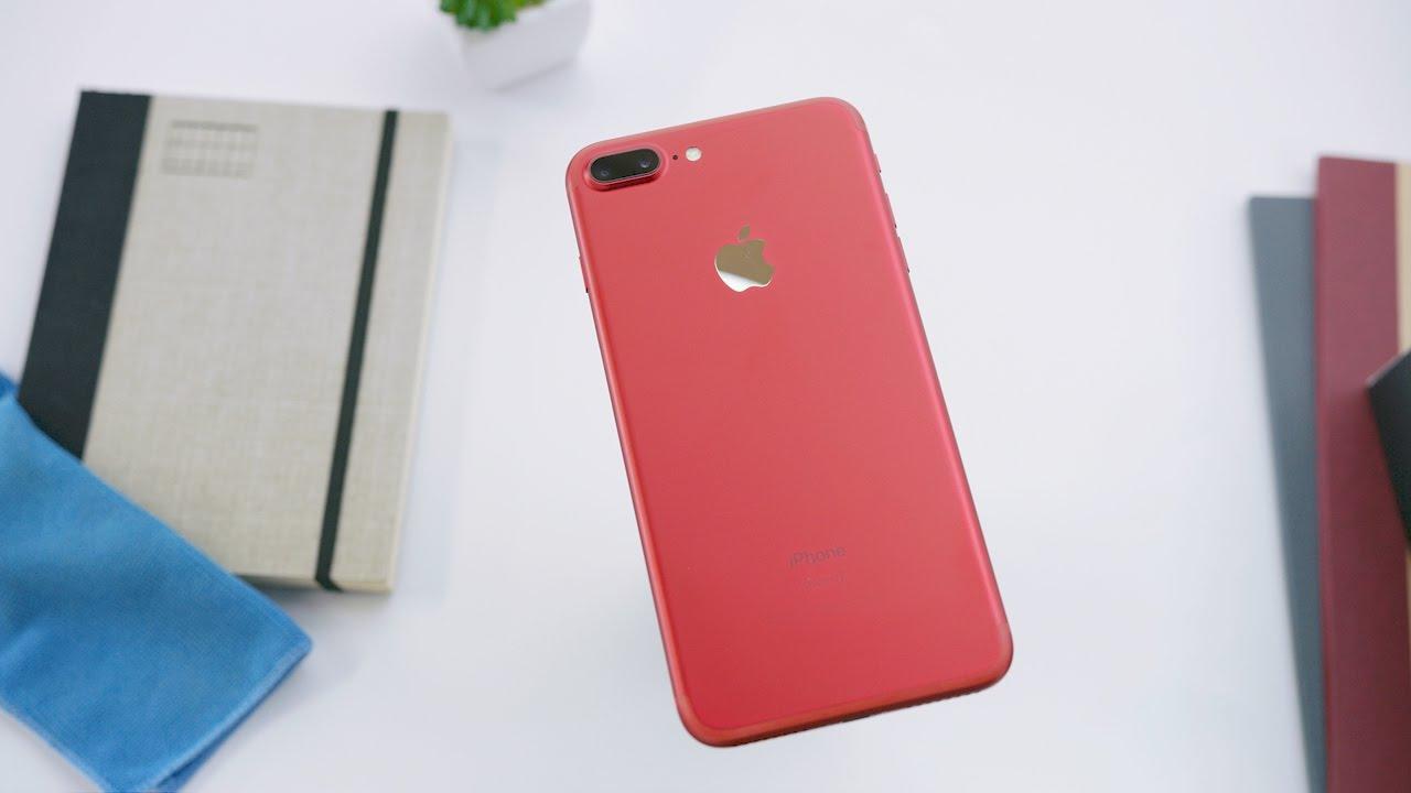 iphone 7 plus rouge d ballage et prise en main en vid o. Black Bedroom Furniture Sets. Home Design Ideas