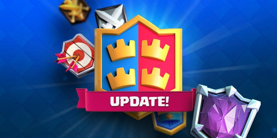 mise a jour clash royale - Clash Royale : ligues, combats de clan, arène 11 & nouvelle carte