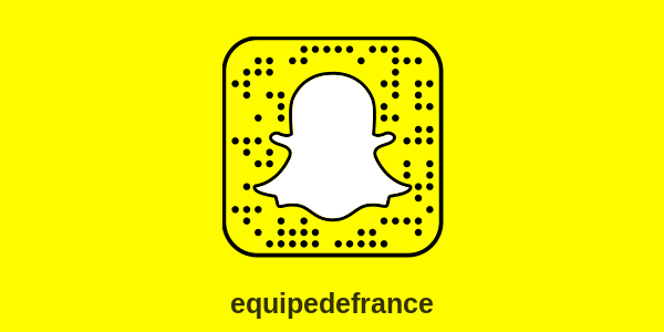 Snapchat Équipe de France de football : compte officiel
