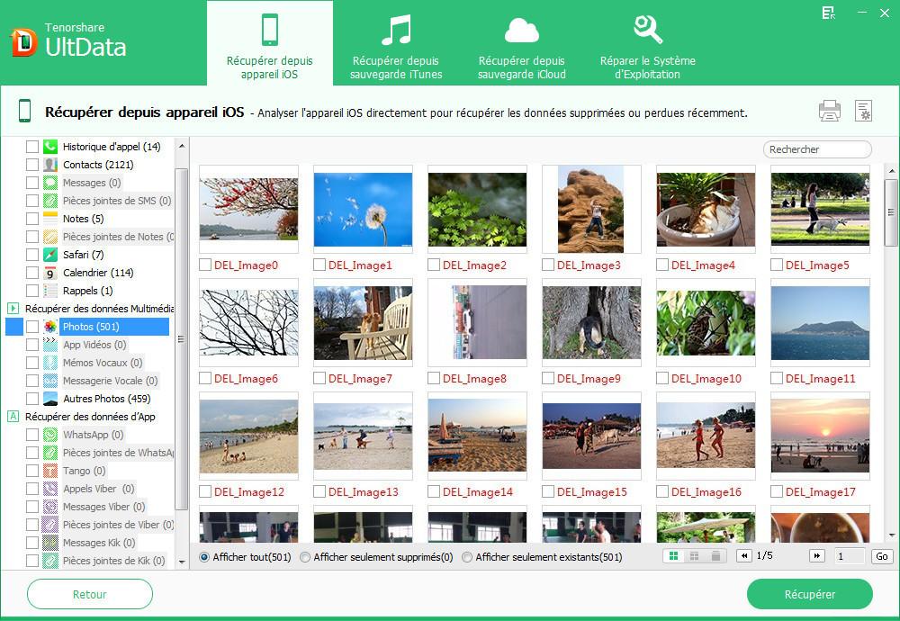 ultdata previsualiser donnees iphone - Tenorshare UltData : récupérer des données supprimées de l'iPhone