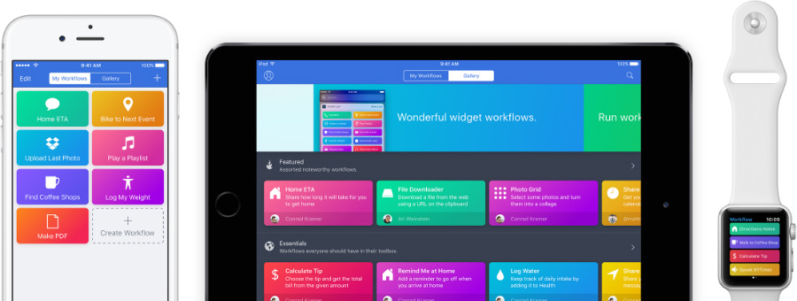 workflow application - Apple rachète l'application Workflow, qui devient gratuite