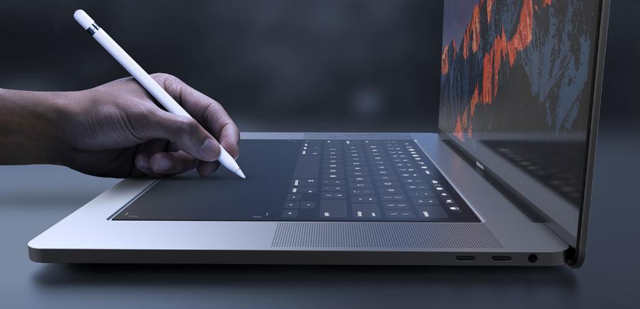 Macbook pro 2018 concept 4 - MacBook Pro 2018 : un concept avec un clavier entièrement tactile
