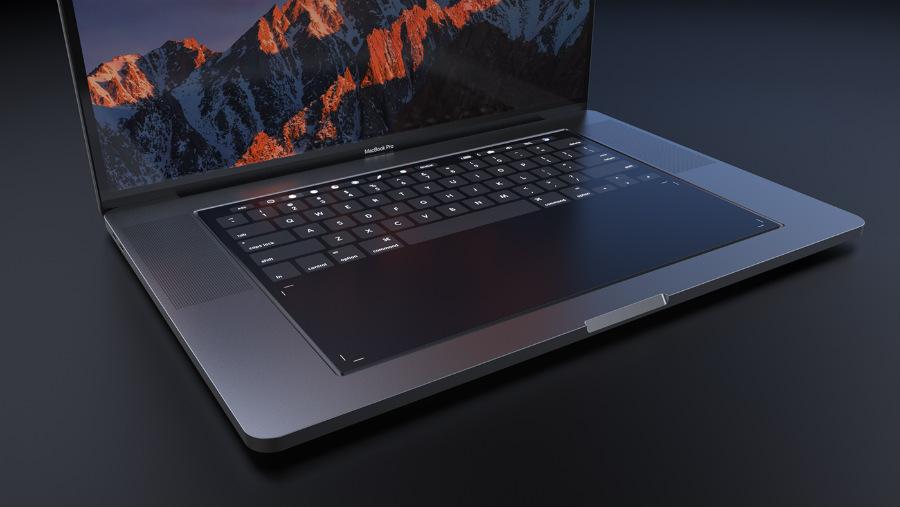 Macbook pro 2018 concept - MacBook Pro 2018 : un concept avec un clavier entièrement tactile