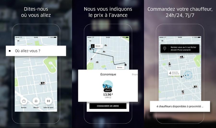 Uber VTC app 2017 iPhone - VTC : Uber aurait pu être retirée de l'App Store par Apple en 2015