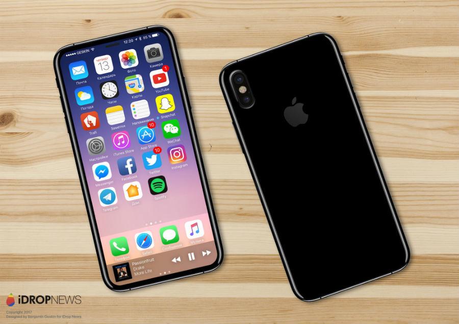 iDropNews iPhone 8 concept borderless 4 - iPhone 8 : nouveau concept borderless avec Touch ID sous l'écran