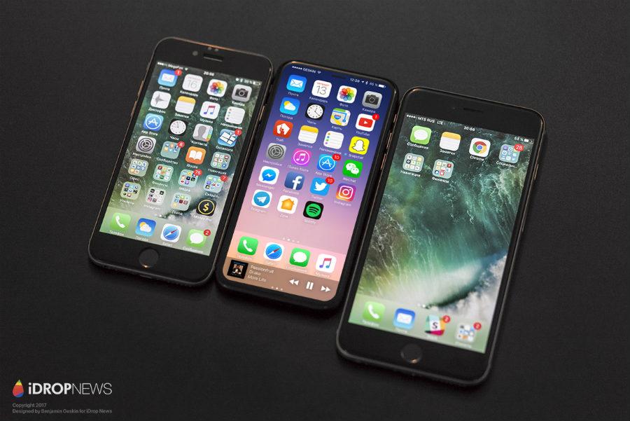 iDropNews iPhone 8 concept borderless 6 - iPhone 8 : nouveau concept borderless avec Touch ID sous l'écran