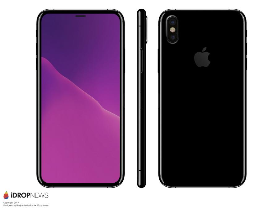 iDropNews iPhone 8 concept borderless 7 - iPhone 8 : nouveau concept borderless avec Touch ID sous l'écran