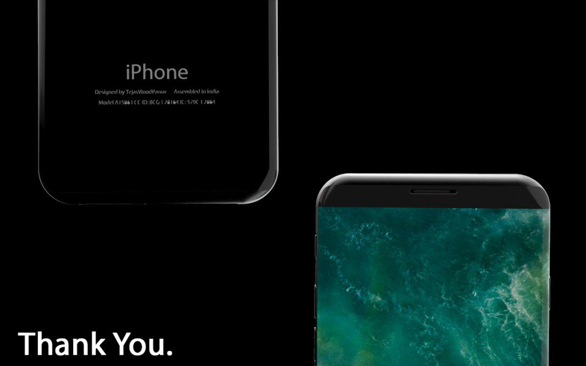 iPhone 8 X 2017 concept Tejas Pawar 3 - iPhone 8 : un concept au design très proche du Samsung Galaxy S8