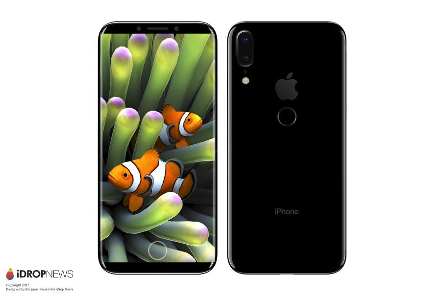 iPhone 8 concept touch id arriere - iPhone 8 : Touch ID et double capteur vertical à l'arrière ?
