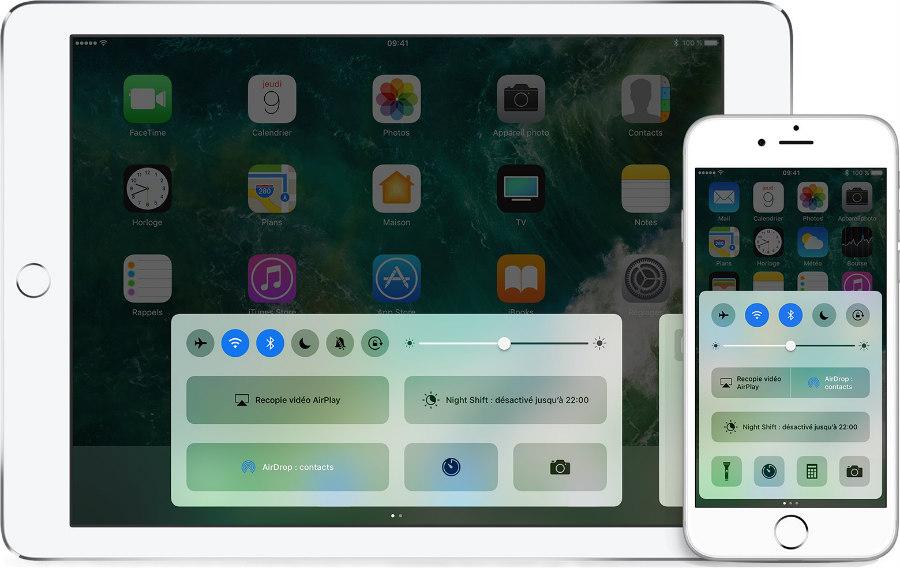 ios 10 iphone ipad centre de controle - Centre de contrôle iOS 10 : une manipulation peut faire planter l'iPhone