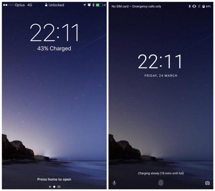 iOS 10 vs Android O : les différences entre les 2 OS en images