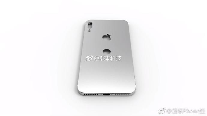 iphone 8 chassis rendu weibo 2 - iPhone 8 : des rendus du châssis avec le Touch ID à l'arrière