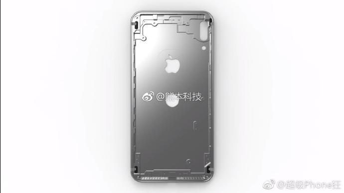 iphone 8 chassis rendu weibo - iPhone 8 : des rendus du châssis avec le Touch ID à l'arrière