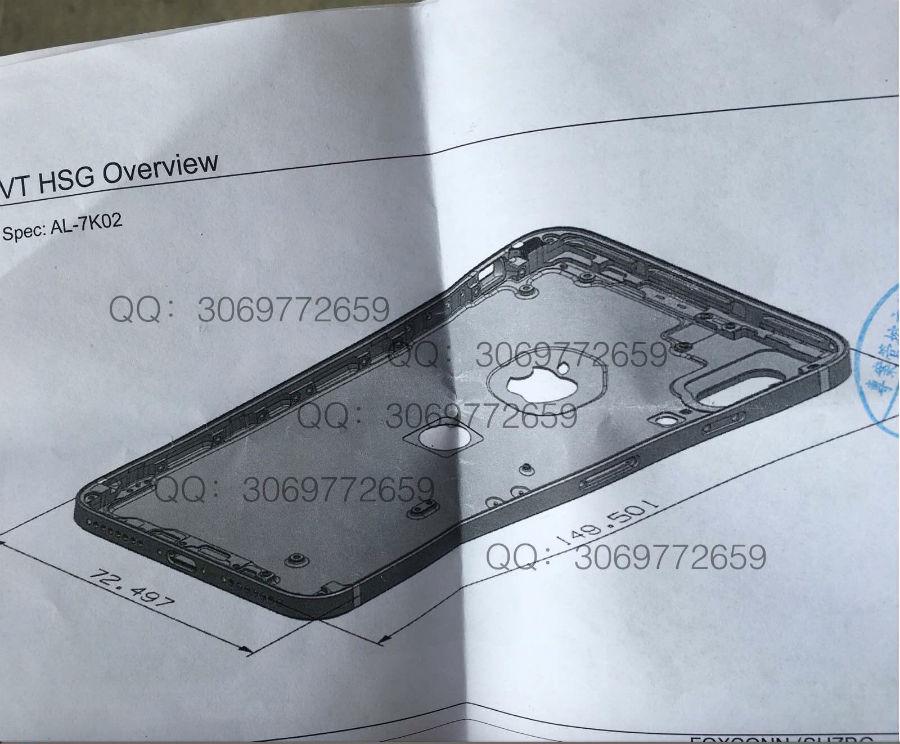 iphone 8 schema sonny dickson - iPhone 8 : nouveau schéma, double capteur vertical & Touch ID arrière